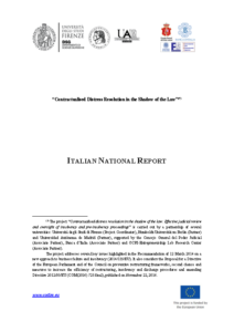 Italian National Report
